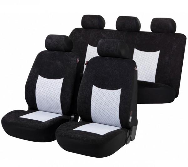 Citroen Xantia, Housse siège auto, kit complet, noir, gris