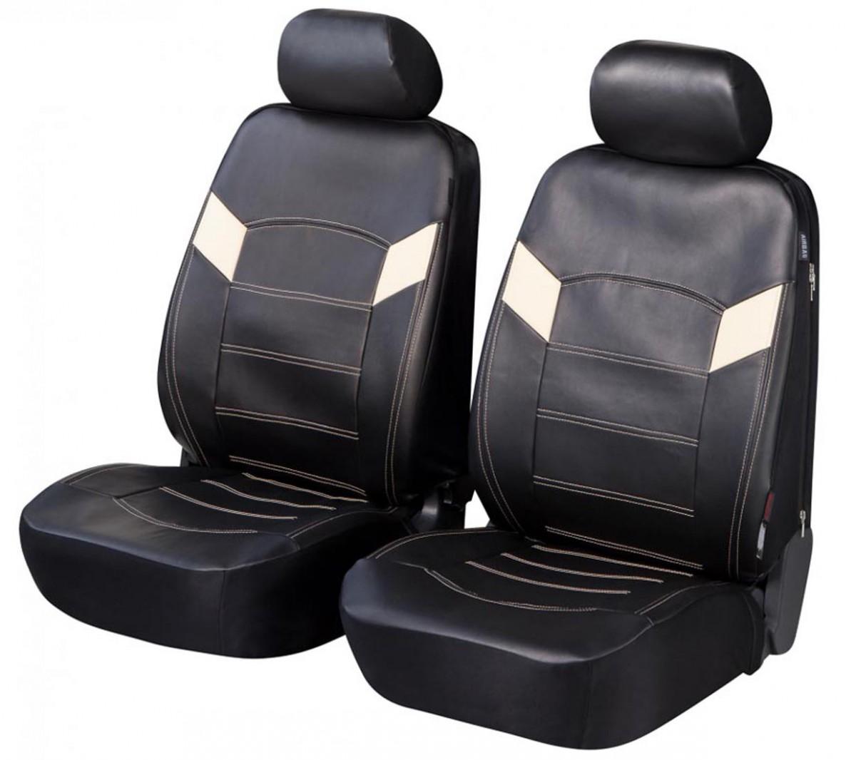 toyota landcruiser housse si ge auto si ges avant noir similicuir. Black Bedroom Furniture Sets. Home Design Ideas