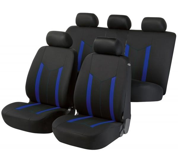 Volvo S80, Housse siège auto, kit complet, noir, bleu