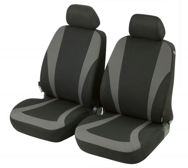 Daihatsu Charade, Housse siège auto, sièges avant, noir, gris