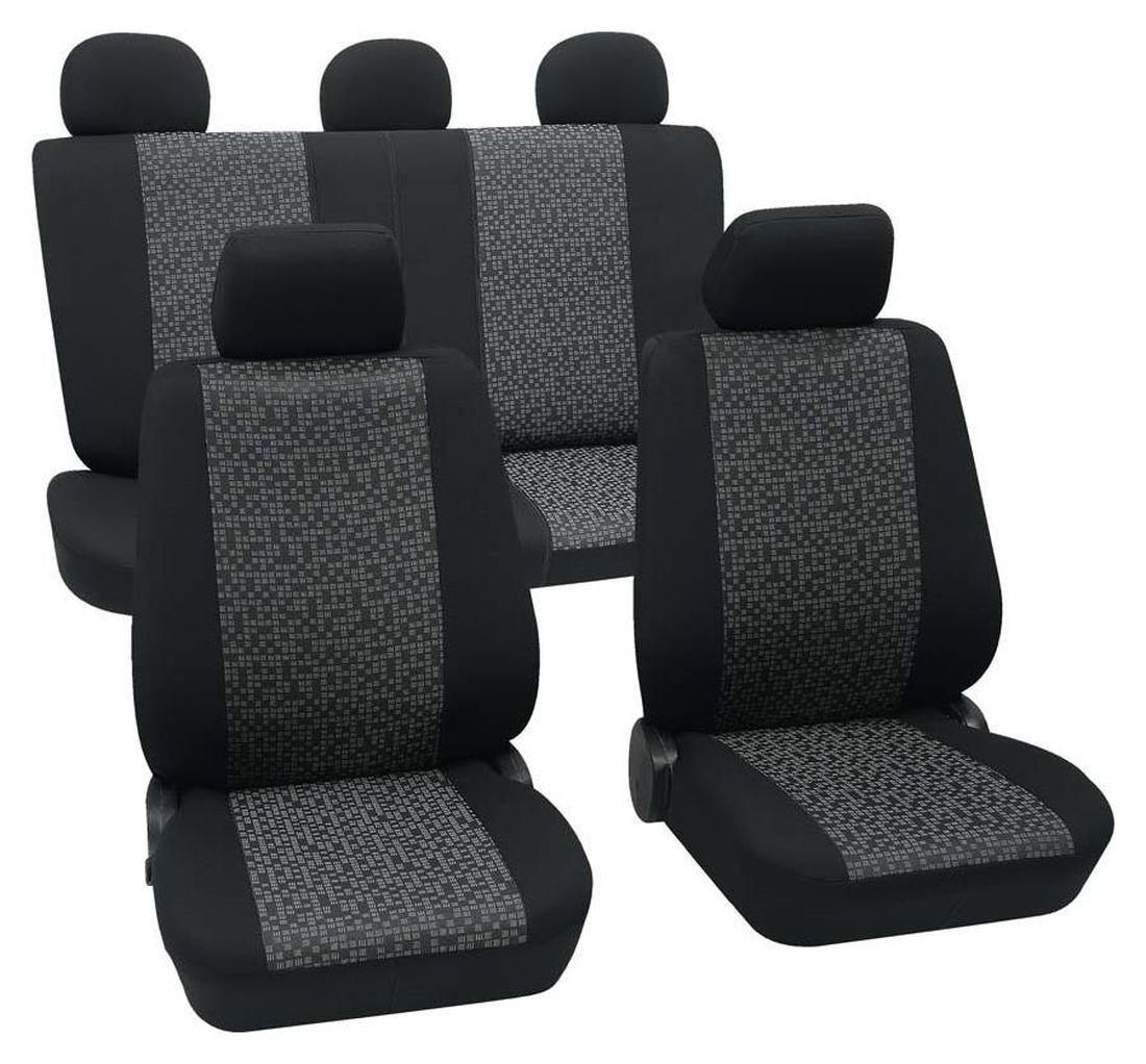 mini mini cabrio housse si ge auto kit complet noir gris. Black Bedroom Furniture Sets. Home Design Ideas
