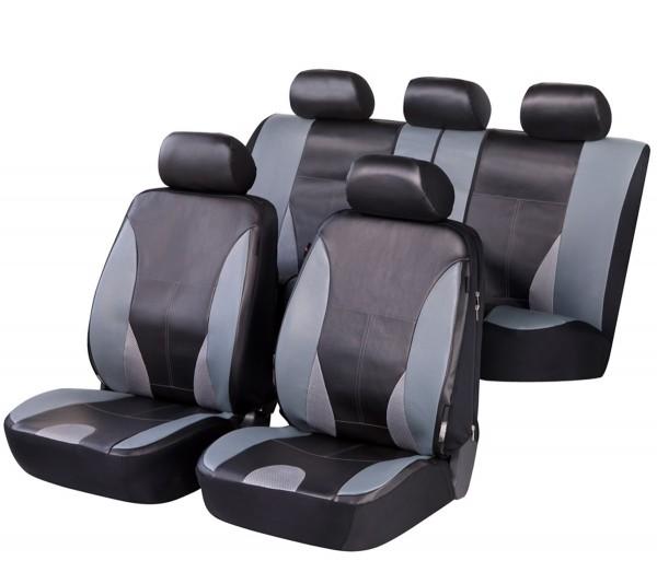Mazda 626, Housse siège auto, kit complet, noir, gris , similicuir