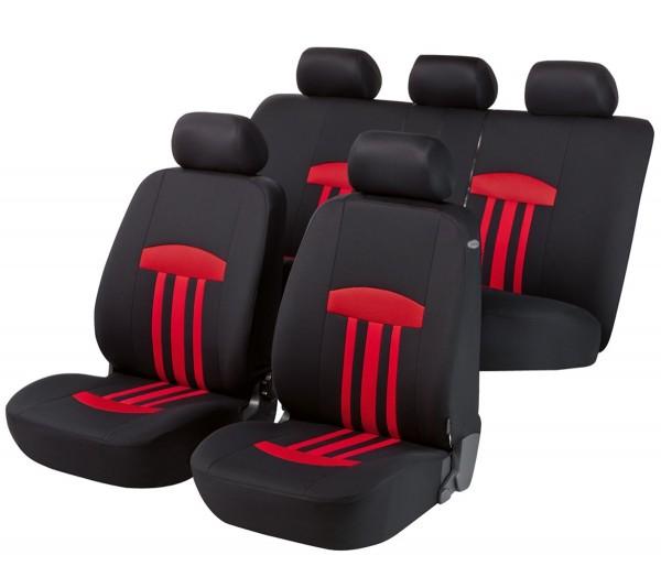 Kia Soul, Housse siège auto, kit complet, noir, rouge