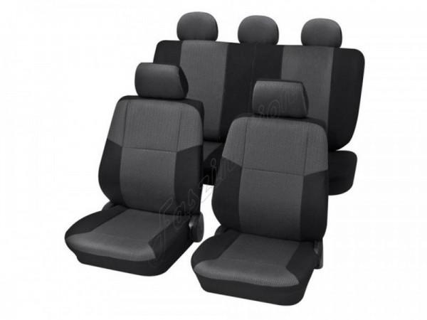 Housses pour sièges de voitures auto, Kit complet, VW Volkswagen Lupo ,anthracite gris noir