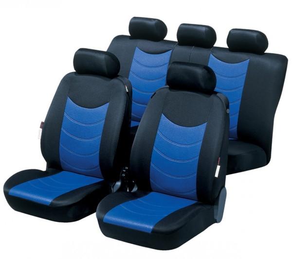 VW Sharan, Housse siège auto, kit complet, bleu