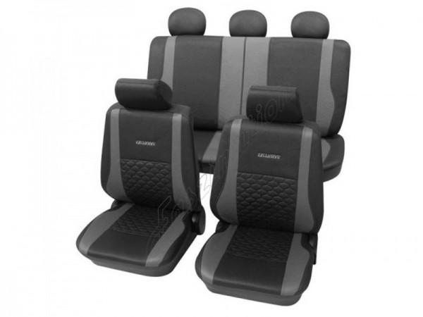 Housses pour sièges de voitures auto, Aspect cuir, Kit complet, VW Volkswagen Käfer ,anthracite noir gris