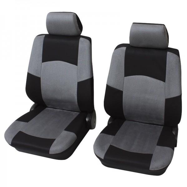 Housses pour sièges de voitures auto, Garniture pour sièges avants, VW Volkswagen T5 ,gris anthracite noir