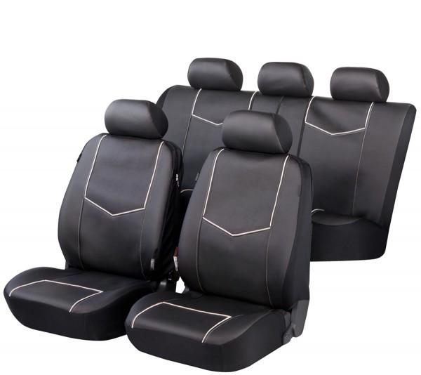 Landrover, Housse siège auto, kit complet, noir, similicuir