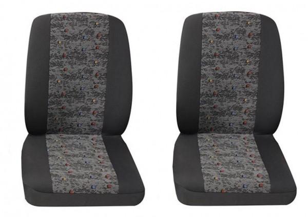 Van Housses pour sièges de voitures, 2 x monoplace, Fiat Fiorino, Couleurs: gris