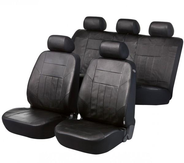Ford S-Max, Housse siège auto, kit complet, noir, similicuir