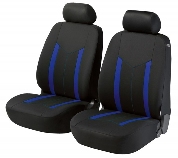 Nissan, Housse siège auto, sièges avant, noir, bleu