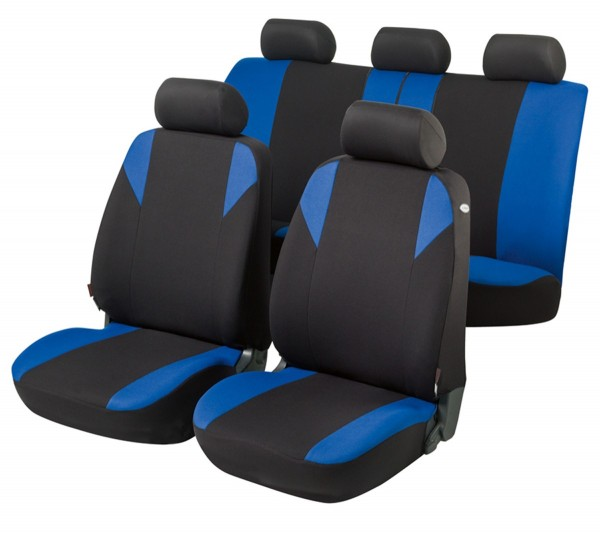 Hyundai i30, Housse siège auto, kit complet, noir, bleu