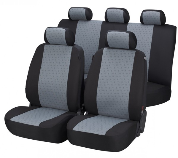 Volvo S80, Housse siège auto, kit complet, gris