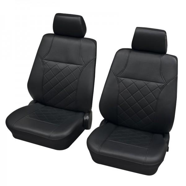 Housses pour sièges de voitures auto, Garniture pour sièges avants, VW Volkswagen T5 ,anthracite noir