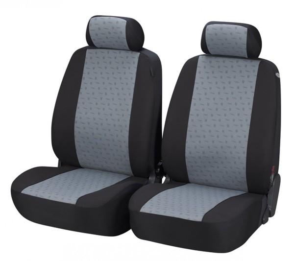 Kia Sportage, Housse siège auto, sièges avant, noir, gris,