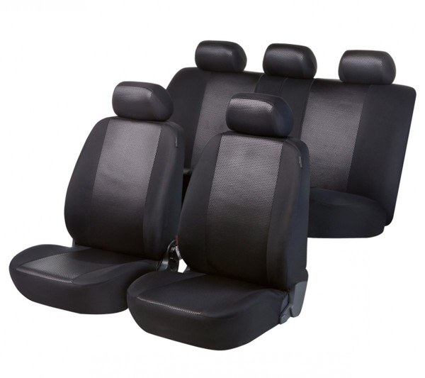 Mazda 626, Housse siège auto, kit complet, noir,