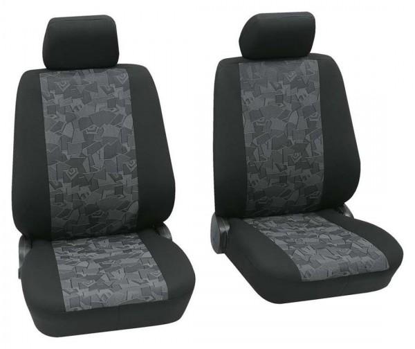 Nissan nur Vordersitzbezüge, Housse siège auto, sièges avant, noir, gris