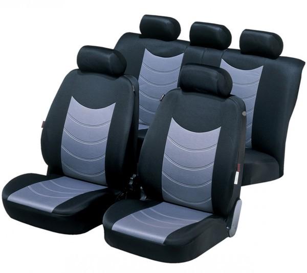 Mazda 626, Housse siège auto, kit complet, noir, gris,