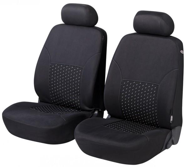Daihatsu Justy, Housse siège auto, sièges avant, noir, gris