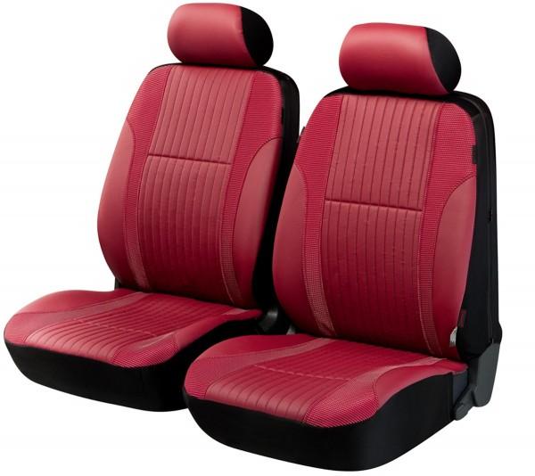 Toyota, Housse siège auto, sièges avant, rouge, similicuir