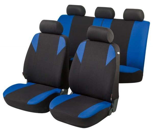 Mazda 626, Housse siège auto, kit complet, noir, bleu