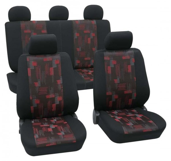 Landrover Sitzbezüge komplett, Housse siège auto, kit complet, noir, rouge