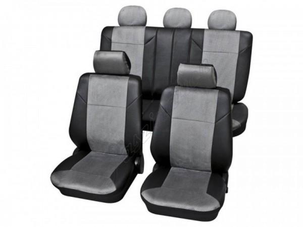 Housses pour sièges de voitures auto, Kit complet, Audi 80 Avant ,gris noir