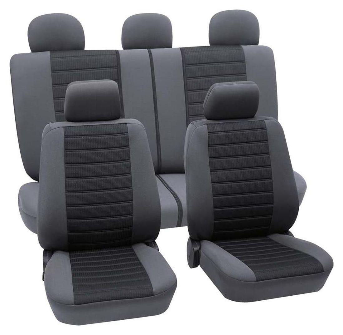 audi a1 housse si ge auto kit complet noir gris. Black Bedroom Furniture Sets. Home Design Ideas