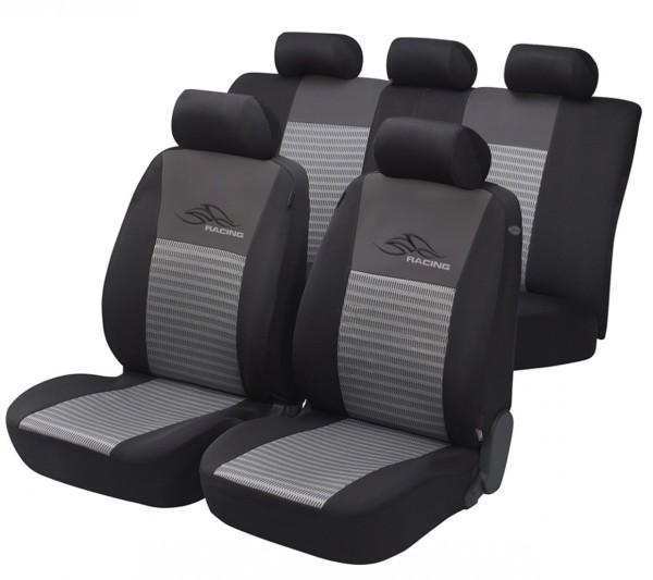 Lancia Y, Housse siège auto, kit complet, noir, gris,