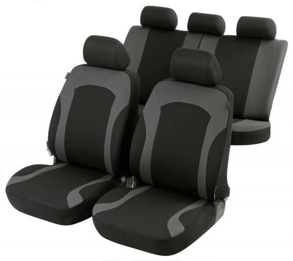 Mazda 121, Housse siège auto, kit complet, noir, gris