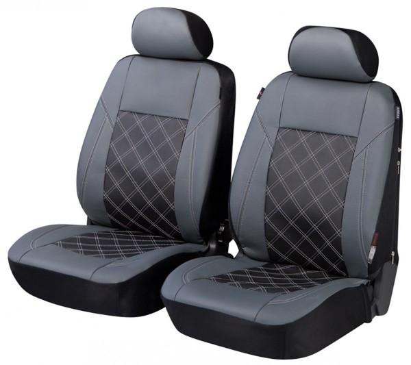 Skoda Superb, Housse siège auto, sièges avant, gris, noir,