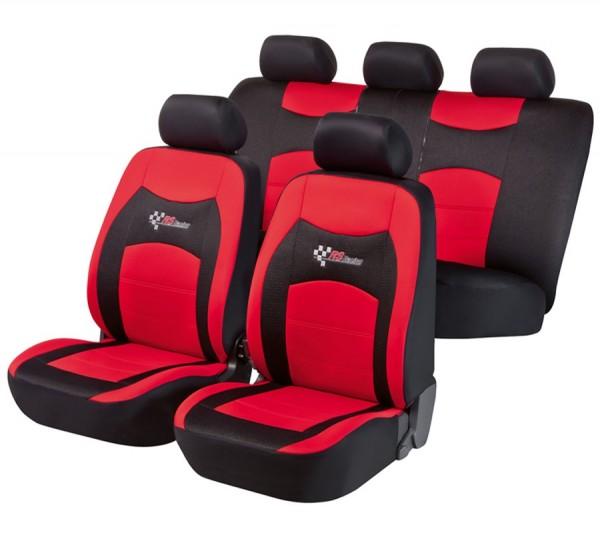Ford S-Max, Housse siège auto, kit complet, noir, rouge