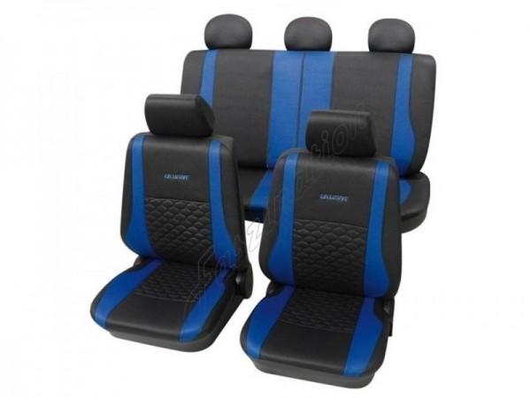 Housses pour sièges de voitures auto, Aspect cuir, Kit complet, VW Volkswagen Käfer ,anthracite noir bleu