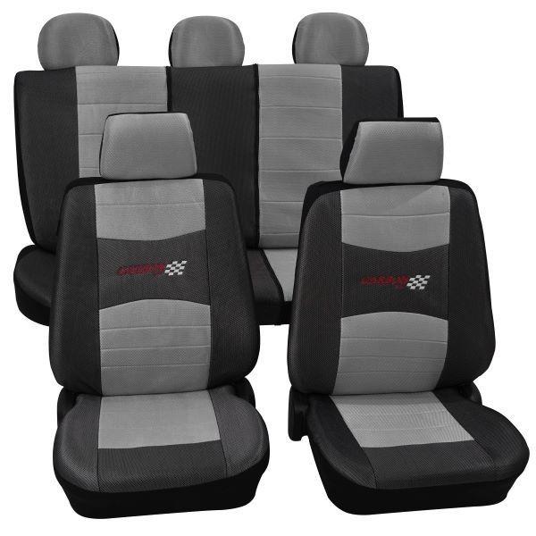 Housses pour sièges de voitures auto, Kit complet, BMW, 3er (E30), 3er (E36), 3er (E46), 3er (E90-E93) a. Cabrio, Mini One/Cooper ,gris argent
